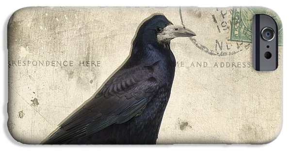 Following iPhone Cases - Post Card Nevermore iPhone Case by Edward Fielding