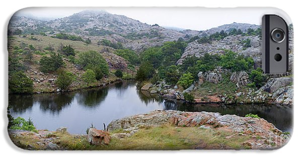 Wildlife Imagery iPhone Cases - Post Oak Lake, Oklahoma iPhone Case by Gregory G. Dimijian