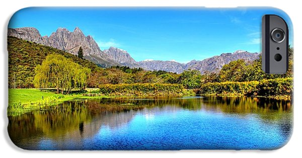 Stellenbosch iPhone Cases - Postcard Cafe iPhone Case by Chris Whittle