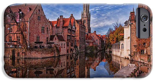 River iPhone Cases - Postcard Canal iPhone Case by Joan Carroll