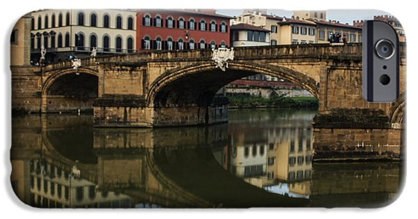 Santa iPhone Cases - Postcard from Florence  iPhone Case by Georgia Mizuleva