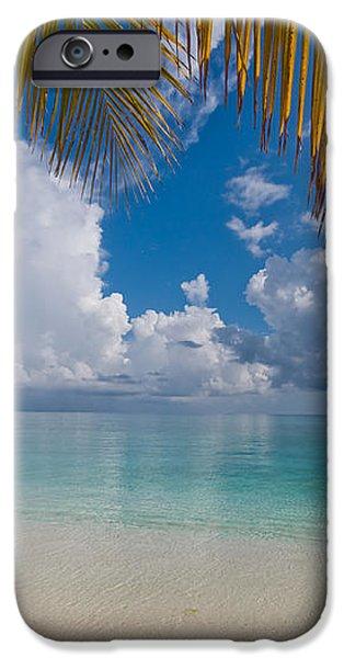 Postcard Perfection. Maldives iPhone Case by Jenny Rainbow