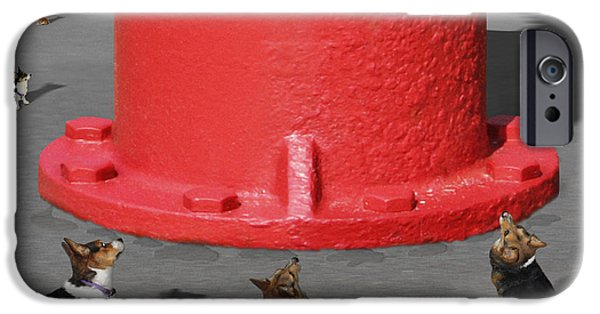 Dogs Digital iPhone Cases - Postcards from Otis - The Hydrant iPhone Case by Mike McGlothlen