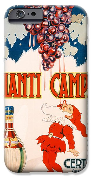 Red Wine Prints iPhone Cases - Poster advertising Chianti Campani iPhone Case by Necchi