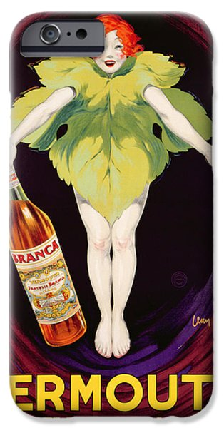 Advertise iPhone Cases - Poster Advertising Fratelli Branca Vermouth iPhone Case by Jean DYlen