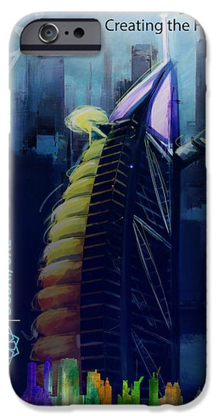 Business Paintings iPhone Cases - Poster Dubai Expo - 10 iPhone Case by Corporate Art Task Force