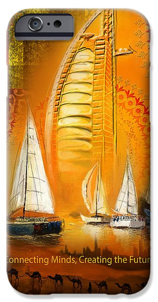 Business Paintings iPhone Cases - Poster Dubai Expo - 4 iPhone Case by Corporate Art Task Force