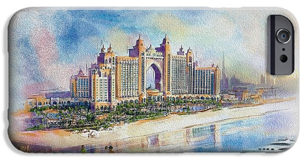 Business Paintings iPhone Cases - Poster Dubai Expo - 5 iPhone Case by Corporate Art Task Force