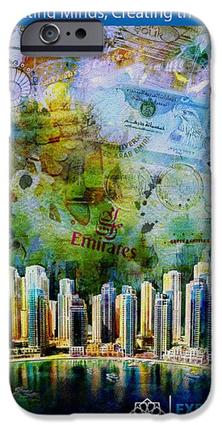 Business Paintings iPhone Cases - Poster Dubai Expo - 6 iPhone Case by Corporate Art Task Force