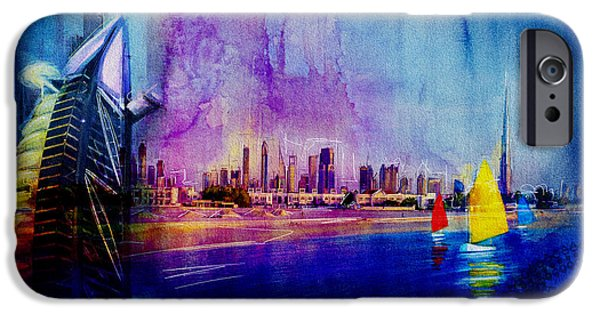 Business Paintings iPhone Cases - Poster Dubai Expo - 9 iPhone Case by Corporate Art Task Force