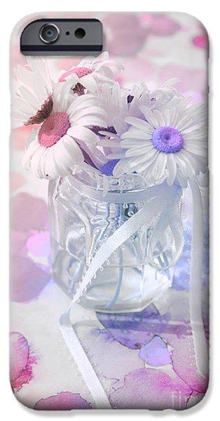 Pastel iPhone Cases - Pot of Daisies 03s29d - Du Bonheur en Pot iPhone Case by Variance Collections