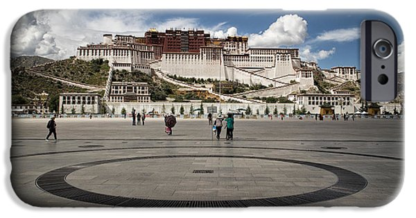 Tibetan Buddhism iPhone Cases - Potala palace iPhone Case by Captain Young