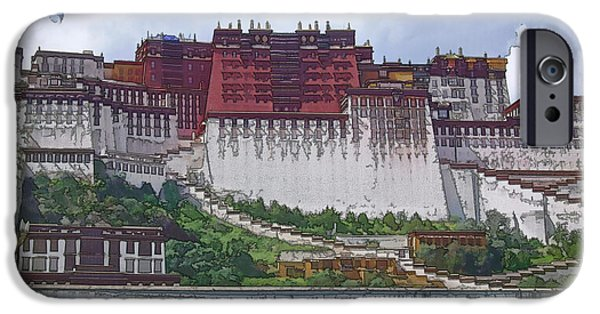 Tibetan Buddhism iPhone Cases - Potala Palace iPhone Case by Joan Carroll