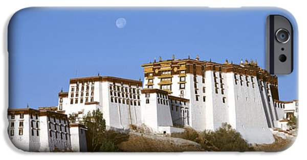 Buddhist iPhone Cases - Potala Palace Lhasa Tibet iPhone Case by Panoramic Images