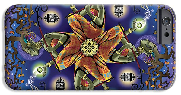 Mandalas iPhone Cases - Potential Mandala iPhone Case by Cristina McAllister