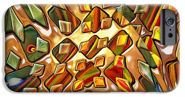 Abstract Digital iPhone Cases - Potpourri - for metallic paper iPhone Case by Wendy J St Christopher
