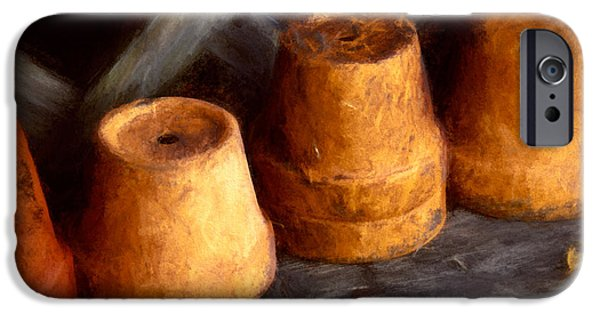 Shed Mixed Media iPhone Cases - Pots Shed iPhone Case by John K Woodruff