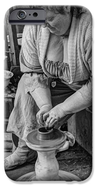 Master Potter iPhone Cases - Potters Wheel v1 iPhone Case by John Straton