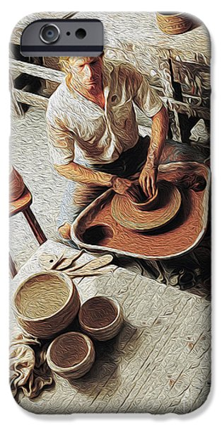 Pottery iPhone Cases - Pottery Maker iPhone Case by Jon Neidert