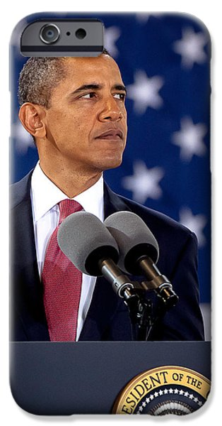 44th President iPhone Cases - Obama iPhone Case by Joshua Berman