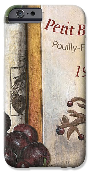 Wine Bottles Paintings iPhone Cases - Pouilly Fume 1975 iPhone Case by Debbie DeWitt