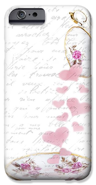 Pouring My Heart Out iPhone Case by Rebecca Cozart