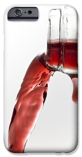 Wine Pour iPhone Cases - Pouring Wine iPhone Case by Frank Tschakert