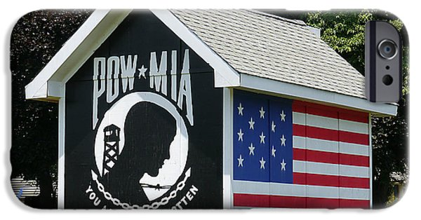 Iraq iPhone Cases - POW - MIA You Are Not Forgotten iPhone Case by Richard Reeve