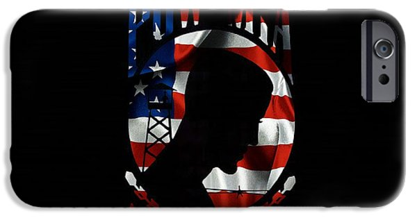 Waving Flag Mixed Media iPhone Cases - Pow iPhone Case by Todd and candice Dailey