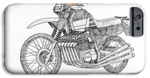 Suspension Drawings iPhone Cases - Power Crosser iPhone Case by Stephen Brooks
