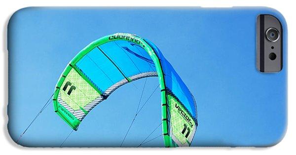 Kite Boarding iPhone Cases - Power Kite iPhone Case by DejaVu Designs