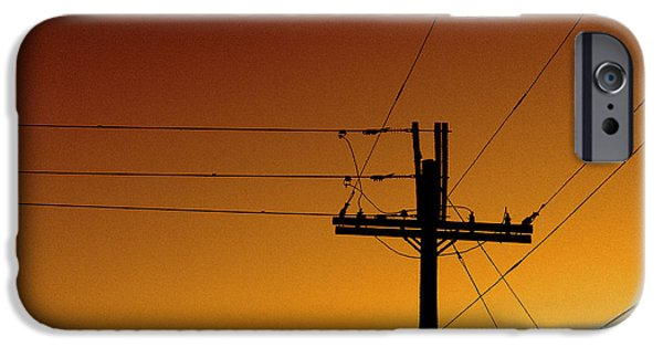 Electrical iPhone Cases - Power Line Sunset iPhone Case by Don Spenner