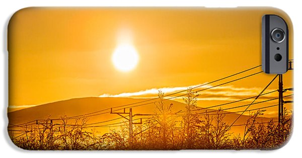 Lapland iPhone Cases - Power Lines And Trees In The Frozen iPhone Case by Panoramic Images