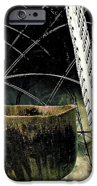 Ceramic Mixed Media iPhone Cases - Power Lines iPhone Case by Sarah Loft