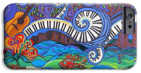Genevieve Esson iPhone Cases - Power Of Music II  iPhone Case by Genevieve Esson