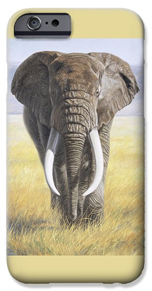 Elephants iPhone Cases - Power Of Nature iPhone Case by Lucie Bilodeau