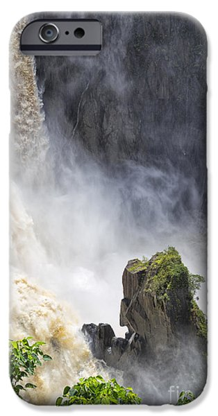 Rainy Day iPhone Cases - Power of the Falls iPhone Case by Wendy Townrow