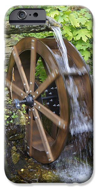 Grist Mill iPhone Cases - Power of Water iPhone Case by Laurie Perry