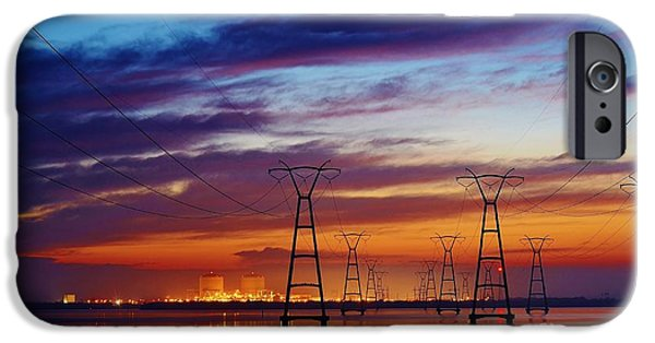 Lynda Dawson-youngclaus Photographer iPhone Cases - Power Plant on the Rise iPhone Case by Lynda Dawson-Youngclaus