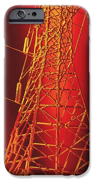 Electrical iPhone Cases - Power Station - Hot for metallic paper iPhone Case by Wendy J St Christopher