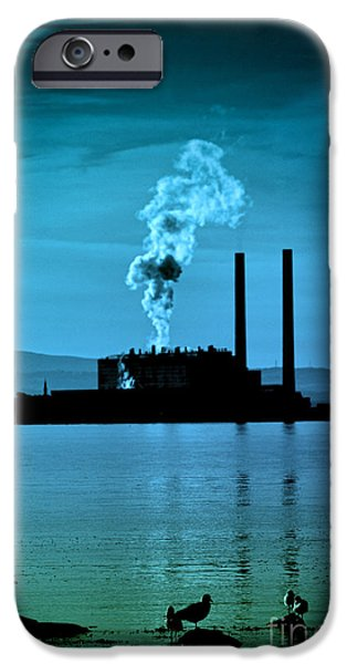 Power Station silhouette iPhone Case by Craig B