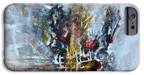 Ismeta iPhone Cases - Powerful - Abstract Art iPhone Case by Ismeta Gruenwald