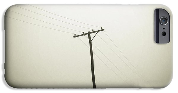 Electric iPhone Cases - Powerlines iPhone Case by Les Cunliffe