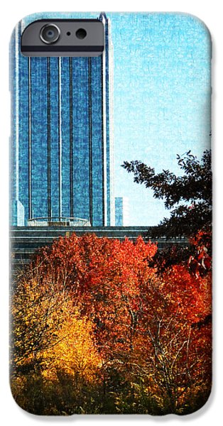 City Scape Digital Art iPhone Cases - PPG in Autumn iPhone Case by Joe Winkler