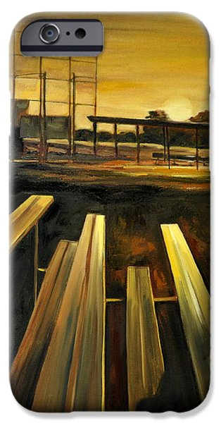 Baseball Art Paintings iPhone Cases - Practice Fields iPhone Case by Lindsay Frost