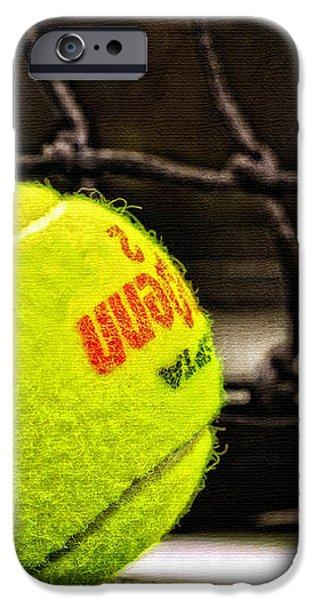 Practice - Tennis Ball By William Patrick and Sharon Cummings iPhone Case by Sharon Cummings