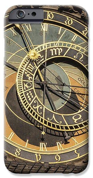 Prague Astronomical Clock iPhone Case by Joan Carroll