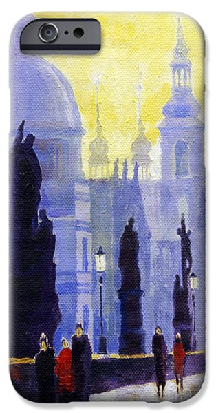Buildings iPhone Cases - Prague Charles Bridge 03 iPhone Case by Yuriy  Shevchuk