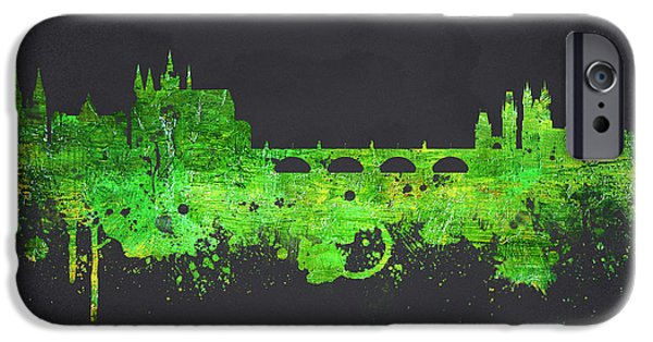 Buildings Mixed Media iPhone Cases - Prague Czech Republic iPhone Case by Aged Pixel