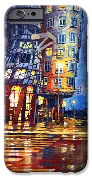 House iPhone Cases - Prague Dancing House  iPhone Case by Yuriy Shevchuk